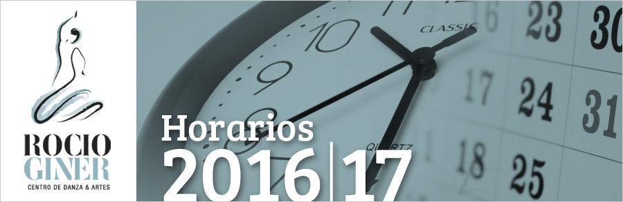 horarios 2016-17 escuela baile Valencia
