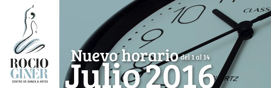 horarios julio 2016