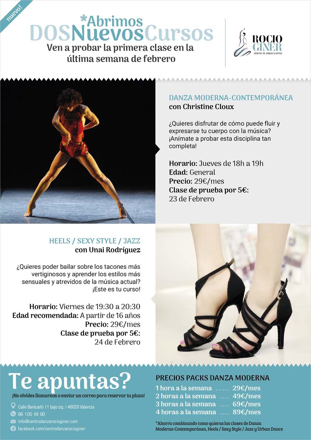 curso de baile contemporáneo. Baile jazz o sexy style
