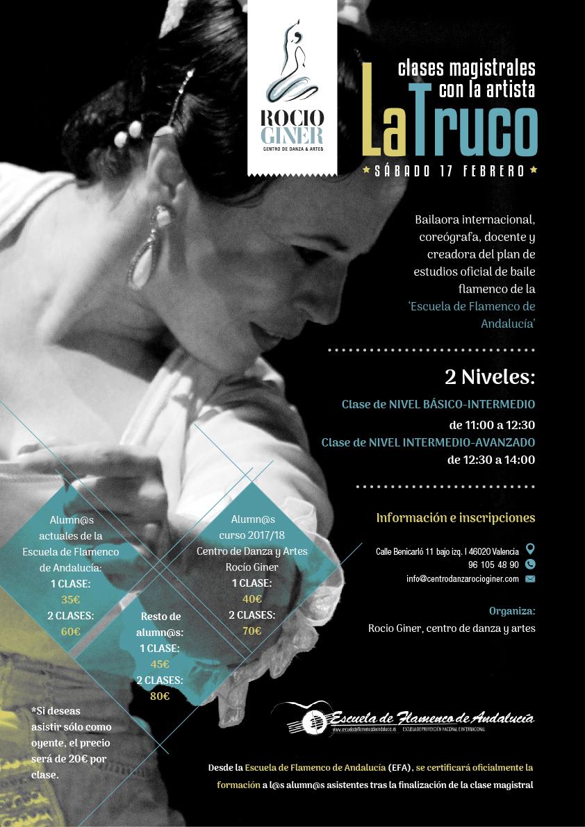 clases magistrales flamenco en Valencia con La Truco