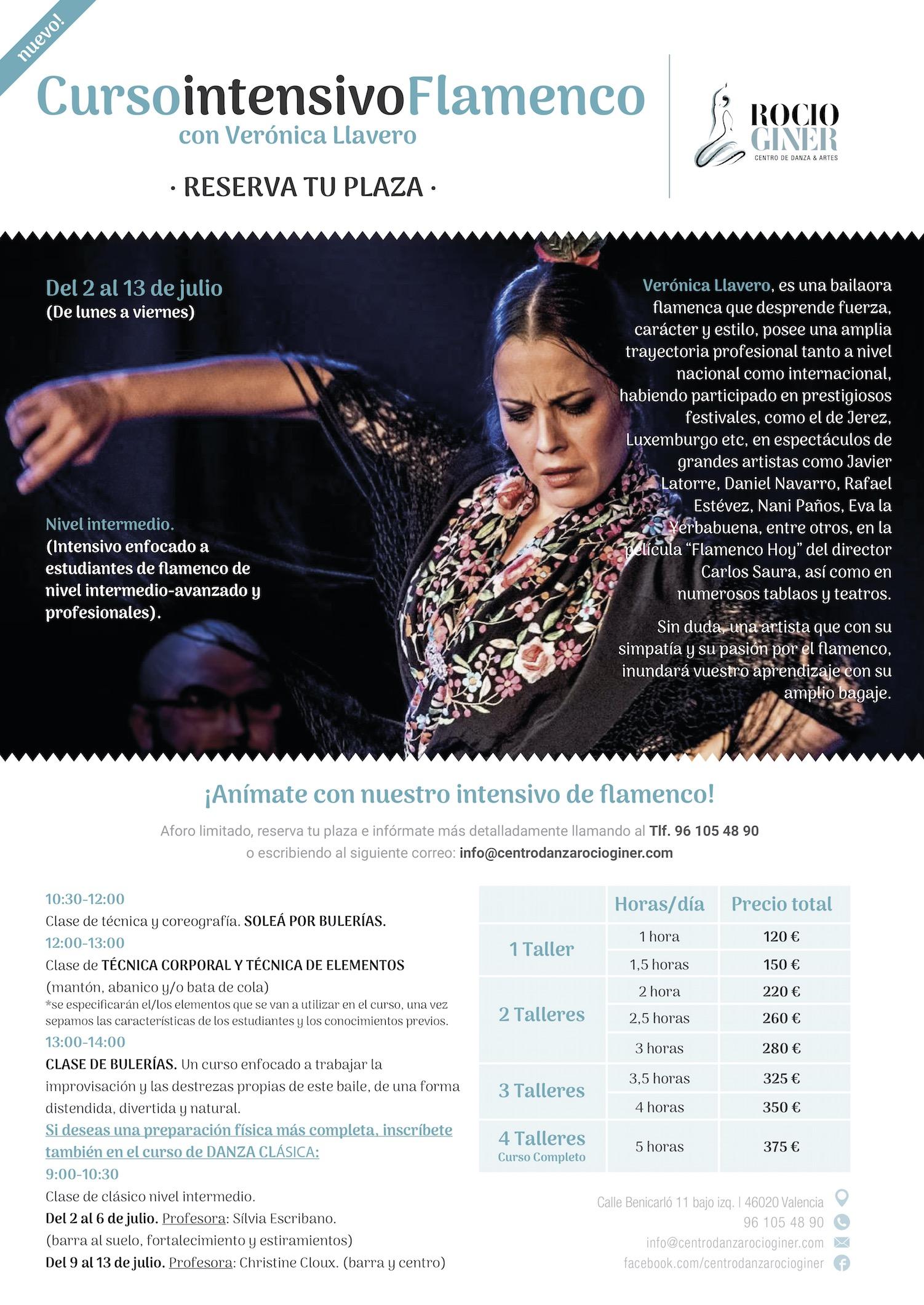 curso intensivo flamenco Valencia