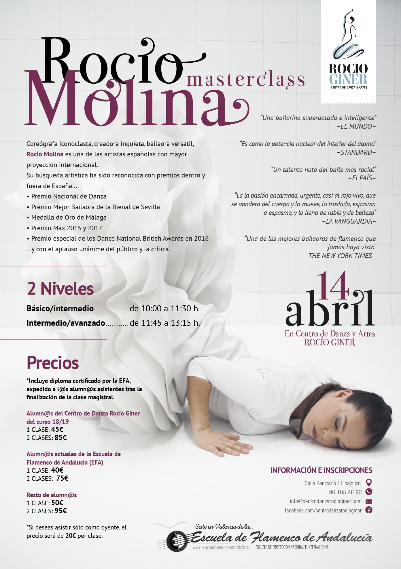 masterclass Rocio Molina