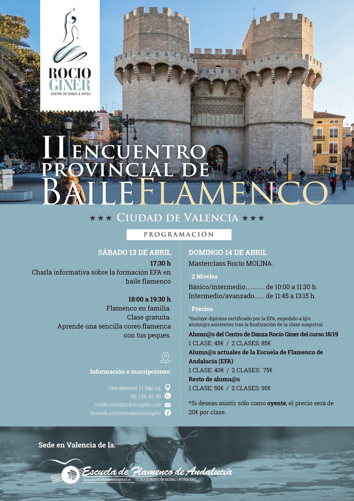 encuentro provincial de flamenco en Valencia