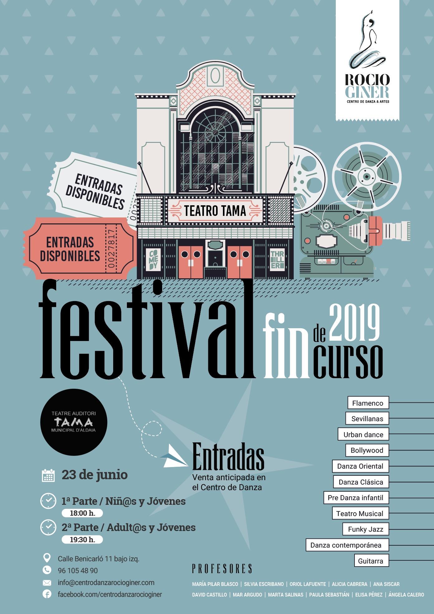 Festival fin de curso academia de baile en Valencia
