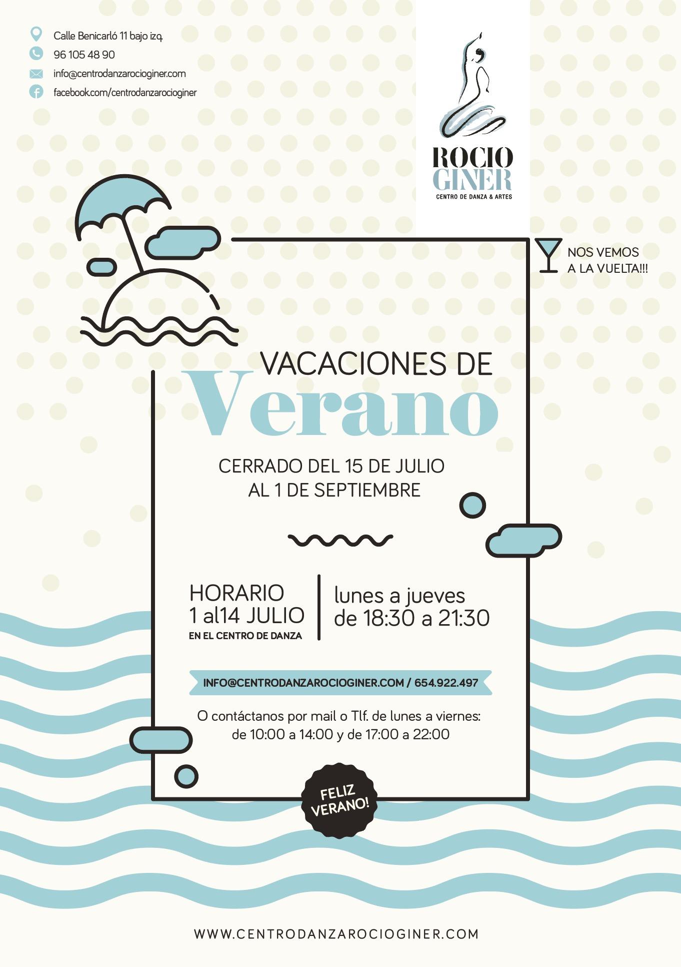 horario verano centro danza Valencia
