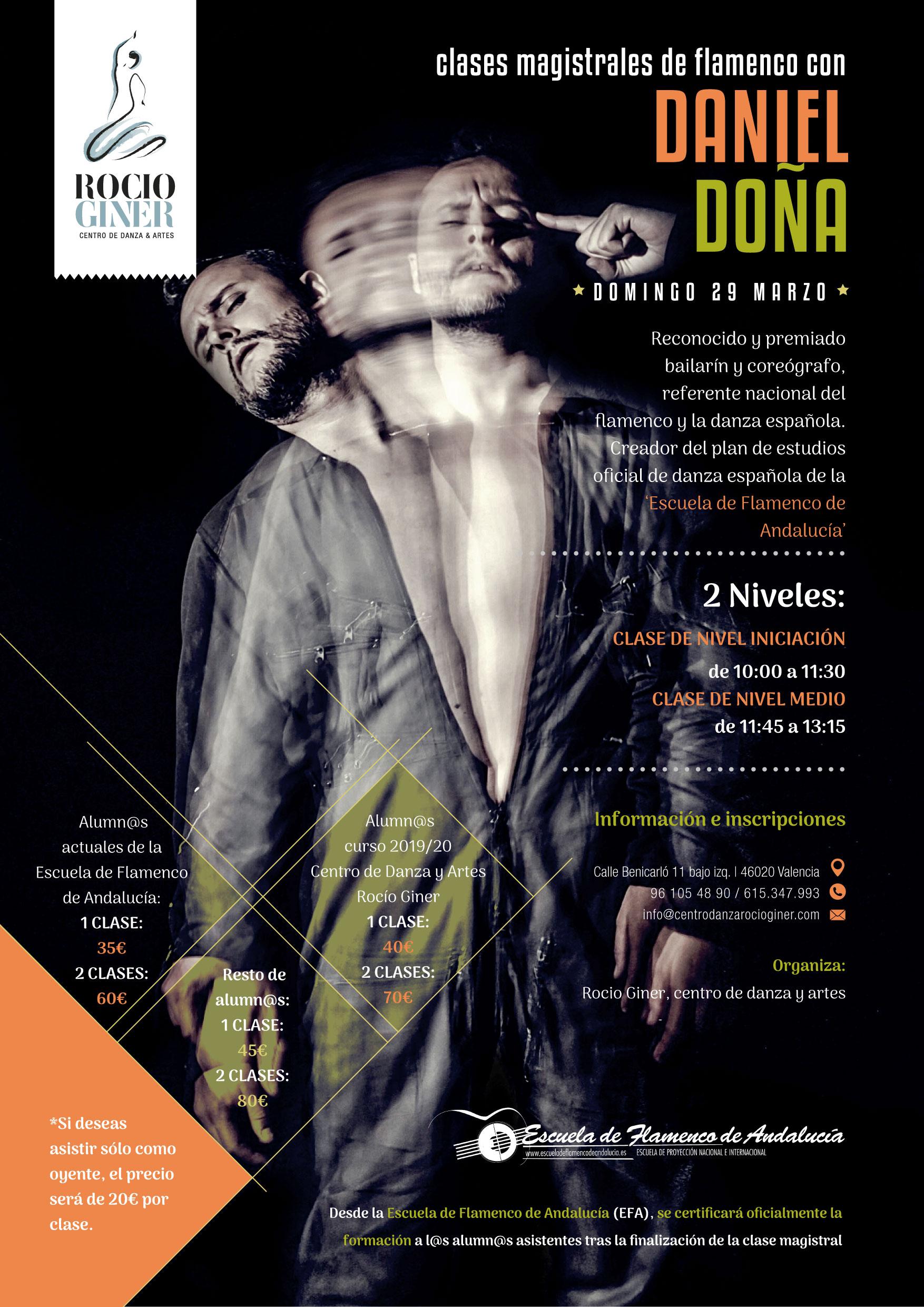 Clases de flamenco Daniel Doña